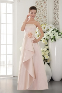 Bridesmaid dressses A-line Strapless Satin Pink
