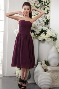 Empire Sweetheart Bridesmaid Dress Tea-length