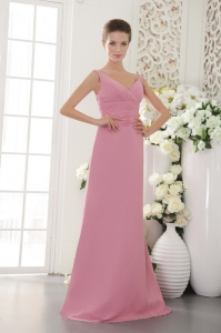 Light Pink Bridesmaid Dresses Column Sheath Brush Sweep
