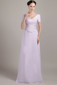 Lilac Column Sheath Floor-length Mothers Dress
