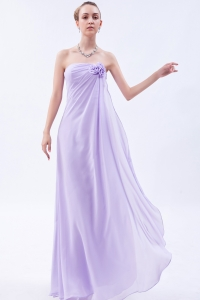 Lilac Strapless Mother of the Bride Dress Hand Made Flower