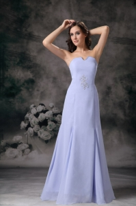 Lilac Strapless Mother Of The Bride Dress Floor-length