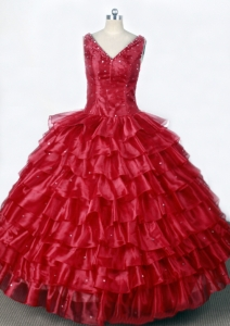 Luxurious Little Girl Pageant Dresses Ruffled Layers
