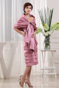 Modest Pink Mother Of The Bride Dress Ruffled