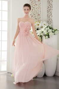 Pink Empire Sweetheart Floor-length Bridesmaid Dresses