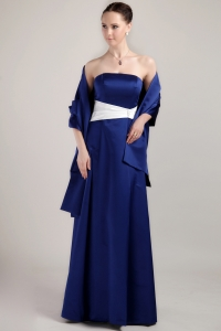 Royal Blue Empire Taffeta Mother of the Bride Dress