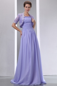 Mother of the Bride Dress Lilac Spaghetti Straps Brush Train
