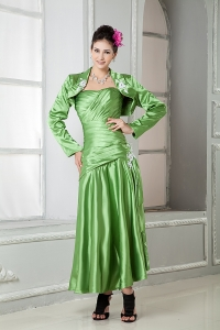 Spring Green Mothers Dress Sweetheart Appliques with Jacket