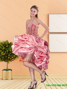 2015 New Style Sweetheart Prom Dresses with Beading and Pick Ups