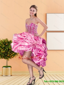 Pretty Sweetheart Beading and Pick Ups Prom Dresses for 2015 Spring