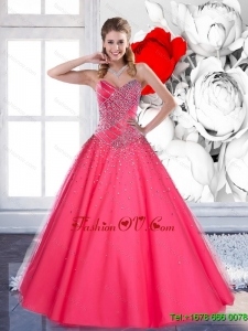 2015 The Most Popular Sweetheart Quinceanera Dresses with Beading