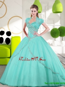 2015 New Style Sweetheart Ball Gown Quinceanera Dresses with Appliques