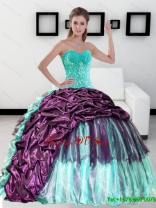 2015 Lovely Sweetheart Quinceanera Dress with Pick up and Ruffles