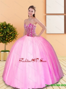 New Style Beading Sweetheart Quinceanera Gown for 2015 Spring