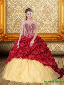 New Style Beading and Pick Ups Sweetheart Quinceanera Dresses for 2015