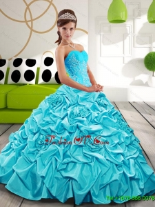 New Style Sweetheart Quinceanera Dresses with Appliques and Pick Ups
