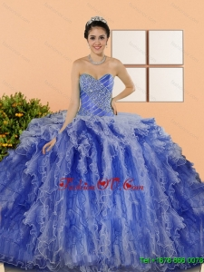 New Style Beading and Ruffles New style Quinceanera Dresses in Multi Color