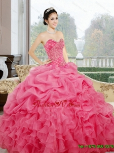 New Style Ruffles and Pick Ups Sweetheart Quinceanera Dresses for 2015