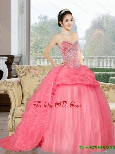 Pretty Sweetheart 2015 Sweet 16 Dress with Beading and Ruffles