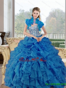 Remarkable Beading and Ruffles Sweetheart Sweet Sixteen Dresses for 2015