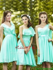 Lovely Belted and Ruched Short Prom Dress in Apple Green