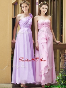 Perfect Empire Ankle Length Zipper Up Prom Dress in Chiffon