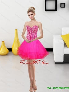 2015 Elegant A Line Sweetheart Prom Dress with Beading