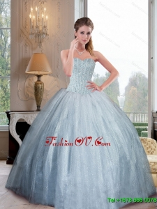 2015 Fashionable Sweetheart Ball Gown Sweet Sixteen Dresses with Beading