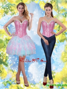 Beautiful Short Beading and Ruffles Sweetheart Prom Dresses for 2015