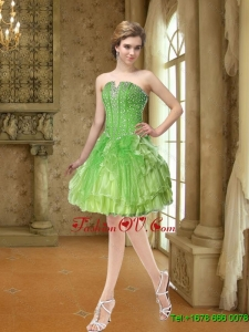 Elegant Beading and Ruffles Prom Dresses for 2015