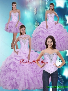 2015 Classic Sweetheart Quinceanera Dresses with Beading and Ruffles
