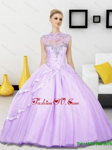 Classical Beading Sweetheart Tulle Sweet Sixteen Dresses for 2015