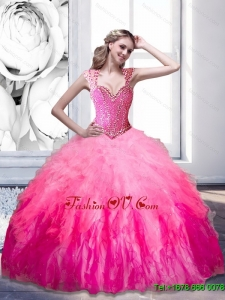 The Super Hot Beading and Ruffles 2015 Sweetheart Sweet Sixteen Dresses in Multi Color