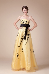 Bowknot Exclusive Empire Strapless Long Prom Dress For 2013