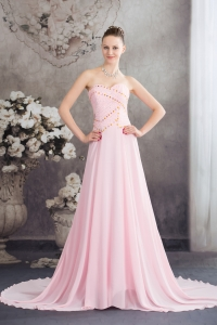 Sweetheart Empire Court Train Prom Dress