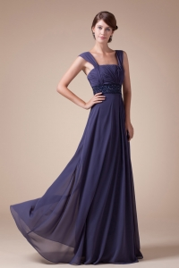 In Fashion Empire Square Neck quare Neck Long Prom Dress