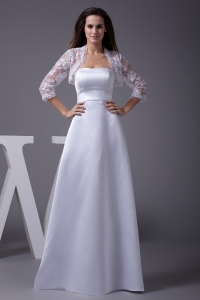 Strapless A-line Floor-length Wedding Dress