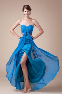 Sweetheart Elegant Ankle-length Empire Beaded Prom Gowns