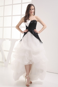 A-line Sweetheart High-low Pick-ups Wedding Dress