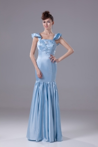 Beading Square Mermaid Long Prom Dress