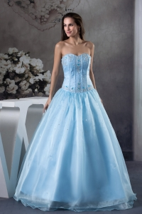 2013 Modern Sweetheart Embroidery A-Line / Princess Prom Dress