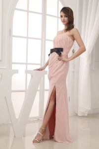 Empire Belt and Ruching Strapless long 2013 Prom Dress