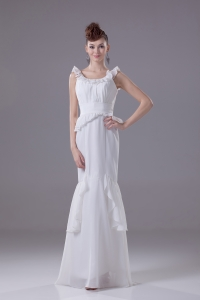 Mermaid Scoop Chiffon Ruching Wedding Dress