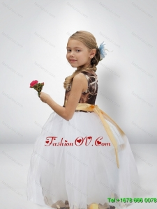 Ball Gown Camo Flower Girl Dresses with Bowknot