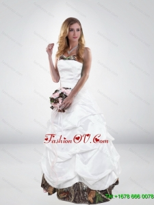 Classical 2015 Side Zipper Camo Wedding Dress with Sweetheart