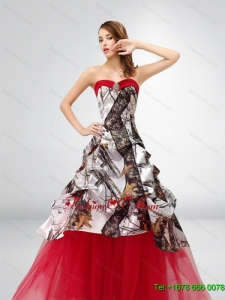 A Line Strapless Exquisite 2015 Spring Camo Wedding Dresses