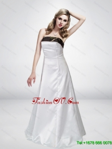 Discout A Line Strapless White Camo Wedding Dresses