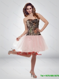 Luxurious A Line Sweetheart Camo 2015 Prom Dresses