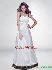 Inexpensive Column Camo 2015 Prom Dresses with Ruching