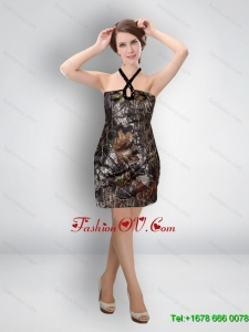 Multi Color Short Halter Wonderful Camo Prom Dresses for Cocktail